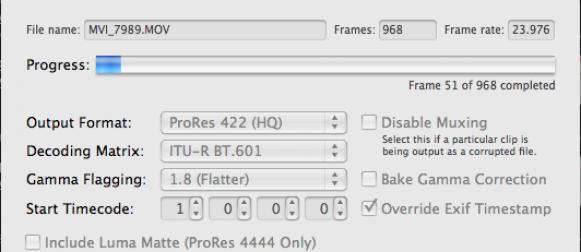 Import Final Cut Pro avec 5DtoRGB de Rarevision