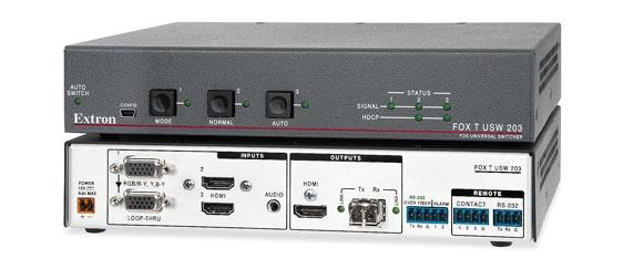 Extron : Commutateur HDMI et Sortie Fibre Optique