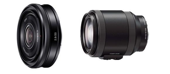 Deux nouvelle optiques Sony E : 20mm Pancake et Zoom 18-200mm