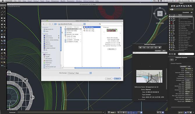 AutoCAD pour Mac - Capture Ecran