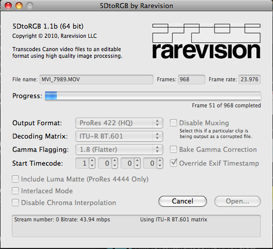 Rarevision 5DToRGB interface