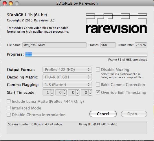 Rarevision 5DToRGB interface