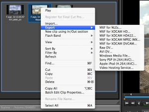 XDCAM Browser Export