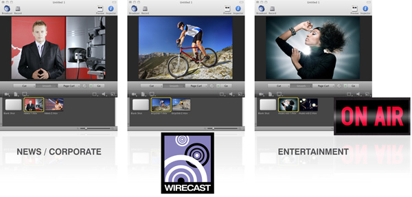 Telestream Wirecast Pro Interface