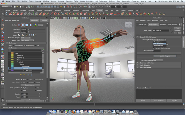 Autodesk Maya 2011 interface