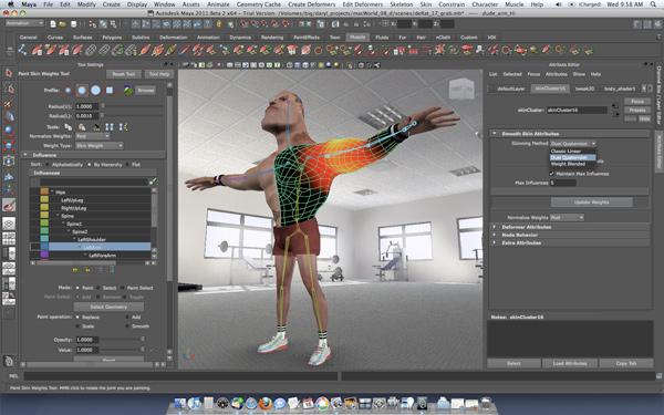 Autodesk Maya 2011 interface