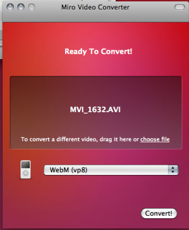 WebM Miro Video Interface