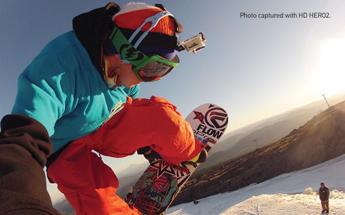 GoPro Hero 2 Image Snowboard