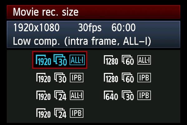 Les modes vidéo du 5D Mark III