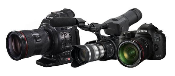 Dynamic Range EOS C100 EOS 5D Mark III Sony FS100