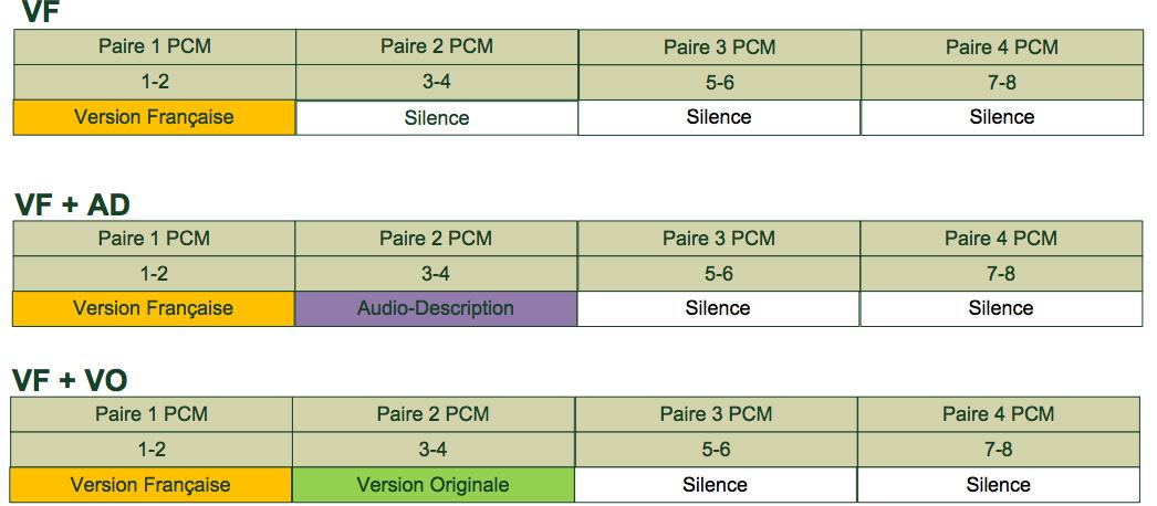 Pistes audios TF1